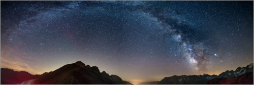 Premium poster The Milky Way over the French Alps