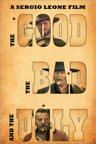 Premium poster The good, the bad and the ugly