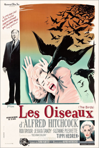 Premium poster The birds (french)
