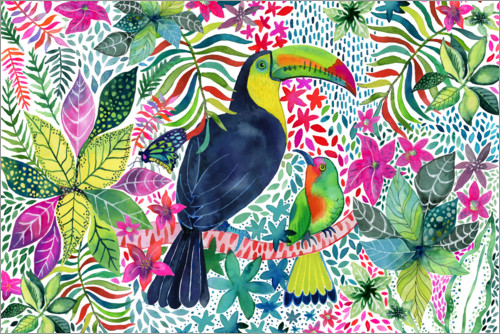 Premium poster Toucan in the Jungle