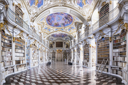 Premium poster Abbey Library Admont