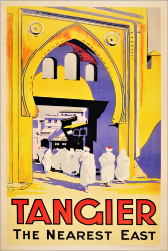 Premium poster Tangier, the nearest east