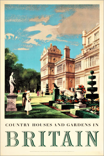 Premium poster Great Britain, Country Houses