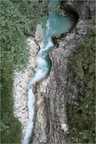 Premium poster Wild water CANYON in the Alps, Austria