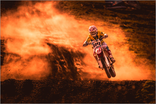Premium poster Motocross in the mud