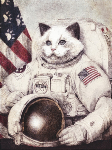 Premium poster Meow out of Space