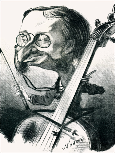 Premium poster Caricature of Jacques Offenbach