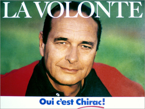 Premium poster The candidate Jacques Chirac