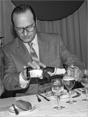 Premium poster Jacques Chirac at a lunch