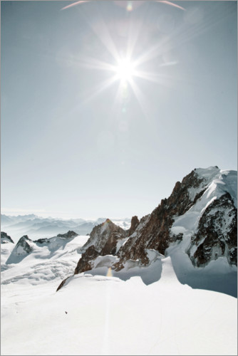 Premium poster Snow landscape in the French Alps