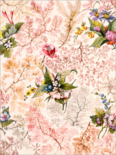 Premium poster Floral pattern with lichens