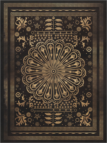 Premium poster Vintage pattern in black and gold