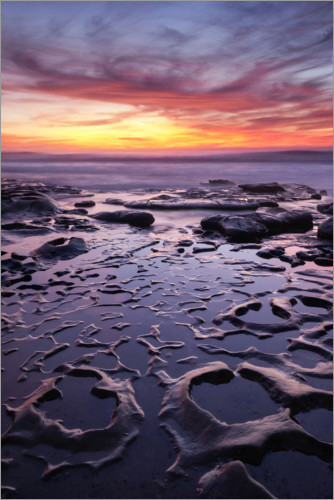 Premium poster Tide pool with sunset