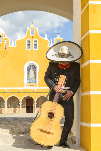 Premium poster Mexican Mariachi with his guitar