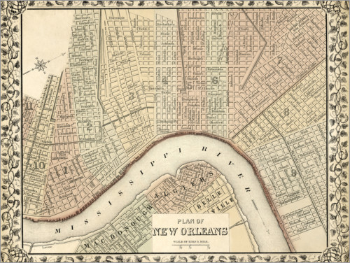 Premium poster Plan of New Orleans