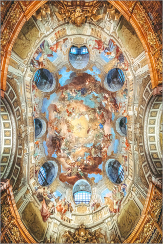 Premium poster Dome painting at the National Library Vienna