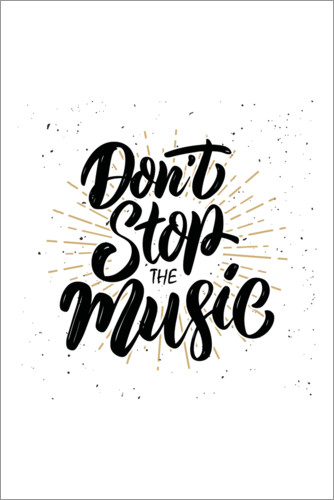 Premium poster Don't stop the music
