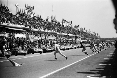 Premium poster Start of the 24 Hours of Le Mans race, 1963
