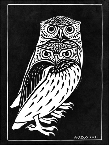 Premium poster Two owls