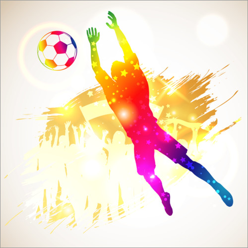 Wall sticker Soccer goalkeeper silhouette