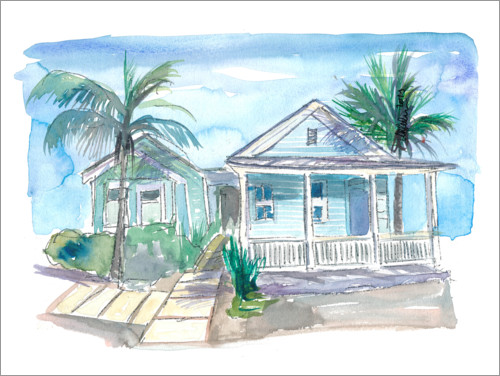 Premium poster Dream house in Key West