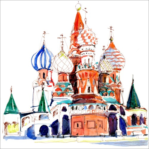 Wall sticker St. Basil's Cathedral, Moscow