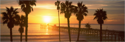 Premium poster San Clemente Pier in Los Angeles County