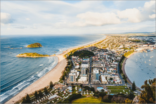 Premium poster View over New Plymouth
