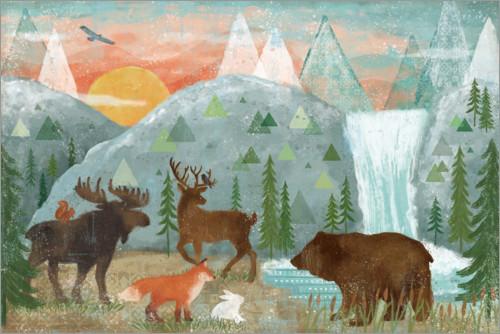Premium poster Animals of the forest