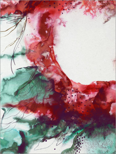 Premium poster Abstract floral explosion