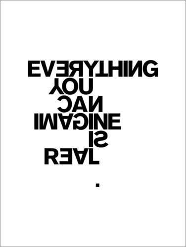 Premium poster Pablo Picasso, Everything You Can Imagine is Real