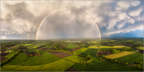 Premium poster Rainbow from above
