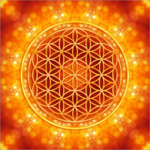 Wall sticker Flower of life - golden age