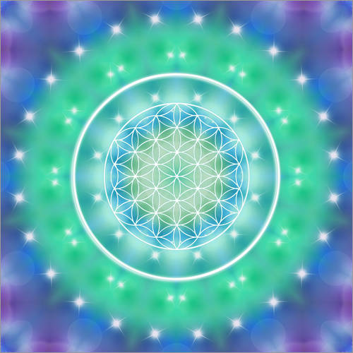 Wall sticker Flower of Life - Relaxation