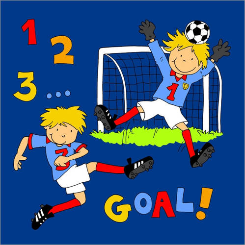 Wall sticker boys playing soccer, Goal!