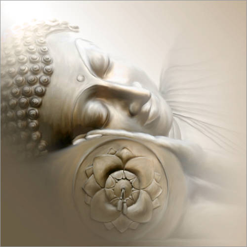 Wall sticker Sleeping Buddha