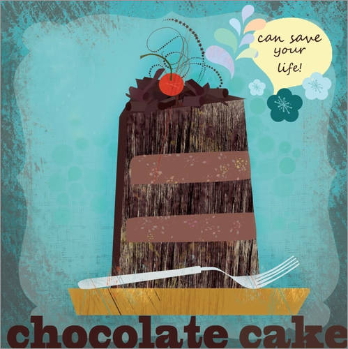 Wall sticker Chocolate cake