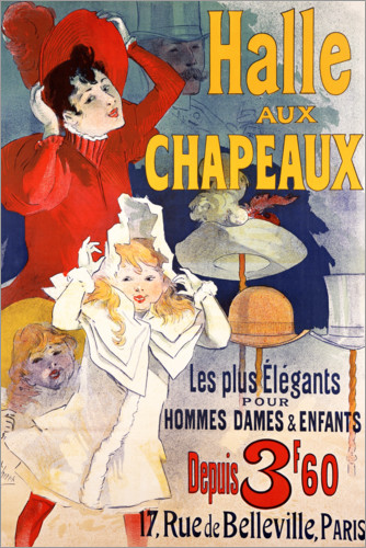Premium poster Hall of Hats (French)