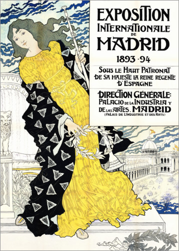 Premium poster International exhibition about Madrid
