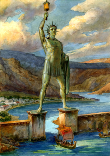 Premium poster The Colossus of Rhodes