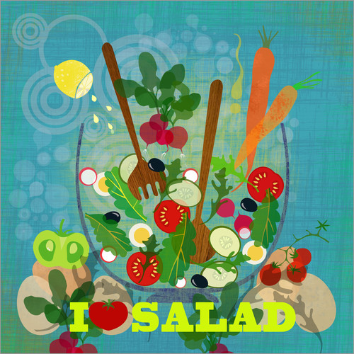 Wall sticker I love Salad
