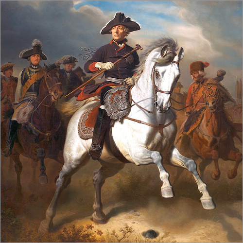 Wall sticker Frederick the Great on horseback