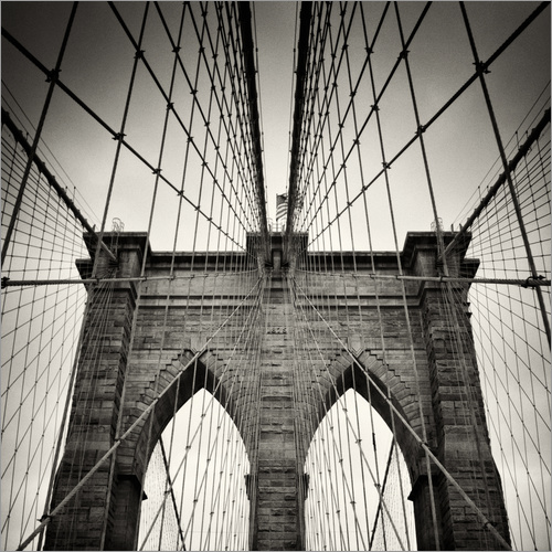 Wall sticker New York City - Brooklyn Bridge (Analogue Photography)