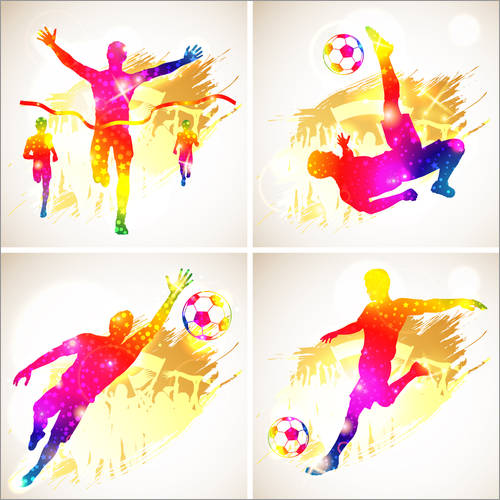 Wall sticker Soccer and Winner Silhouette