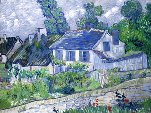 Premium poster Houses in Auvers