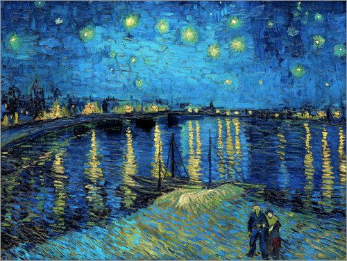 Premium poster Starry Night Over the Rhone