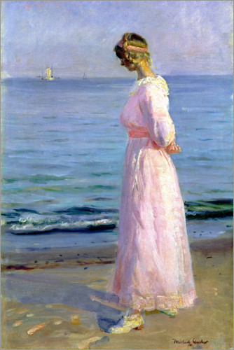 Premium poster Girl in a Pink Dress, 1914