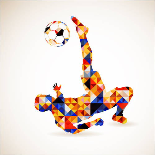 Wall sticker Soccer concept