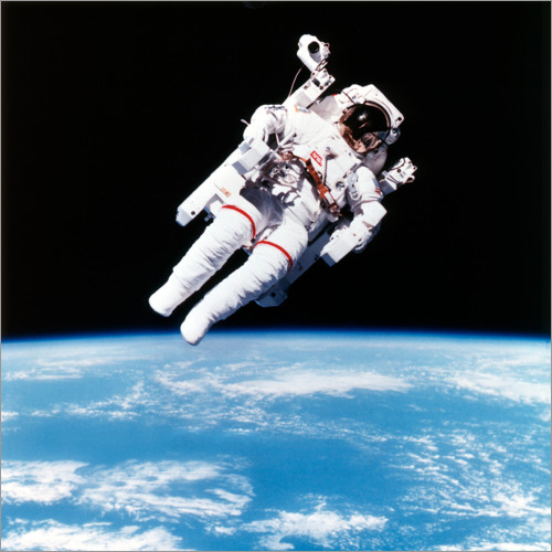 Wall sticker Astronaut Bruce McCandless with propeller backpack