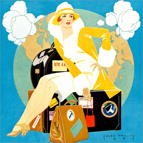 Wall sticker traveling Lady - Life magazine 1927